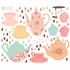 Tea Time Fabric Wall Decals