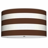 On Sale Thao Cabana Stripes Pendant in Chocolate Brown