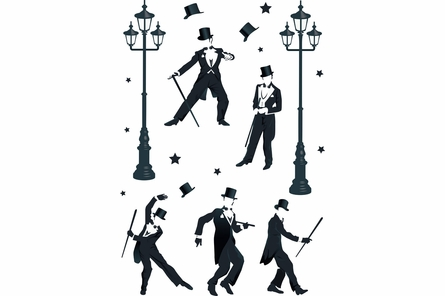 Top Hat Dancing Wall Decals
