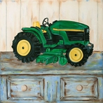 On Sale Tractor II Art with Black Frame