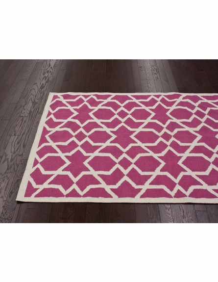 On Sale Trellis Rug in Bubble Gum Pink - 5 x 8 Feet