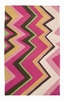 On Sale Trina Turk Pink Zig Zag Hook Rug