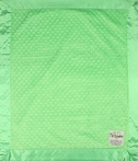 On Sale Velour Dot Baby Blanket - Lime Green