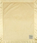 On Sale Velour Dot Baby Blanket - Yellow