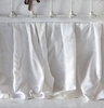 On Sale Velvet Crib Dust Ruffle - Silvermist