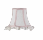 On Sale White And Pink With Ruffled Edge Chandelier Shade