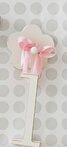 On Sale Wooden Hanging Letter L with Solid Pink Ribbon