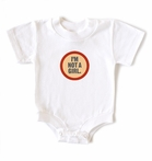On Sale Wry Baby I'm Not a Girl Snapsuit 0-6 months