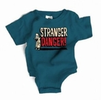 On Sale Wry Baby Stranger Danger Snapsuit in Gooseberry - 0-6 months
