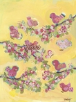 On Sale Yellow Blossom Birdies Canvas Wall Art - 18 x 24 Inches