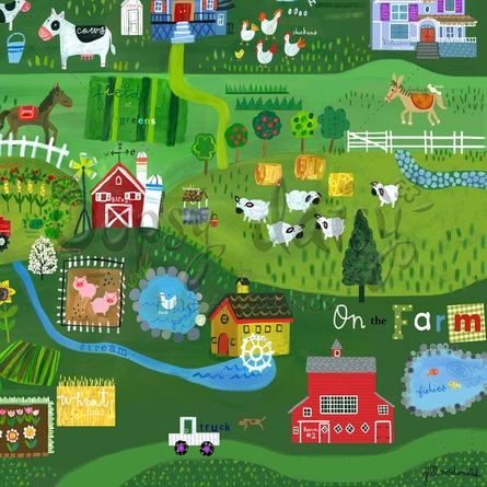 On The Farm Canvas Wall Art