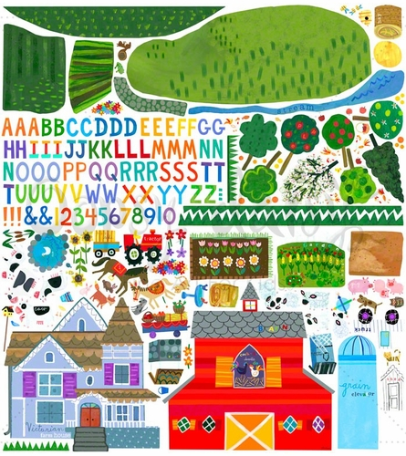 On The Farm Peel & Place Wall Stickers