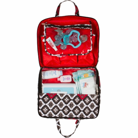 On-the-Go Kit Diaper Bag in Royal Ruby Montage
