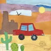 On the Road - Desert Canvas Wall Art