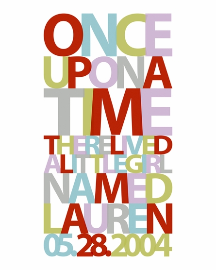 Once Upon a Time Personalized Framed Print