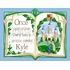Once Upon a Time Storybook Blue Canvas Wall Art