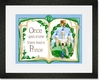 Once Upon a Time Storybook Blue Framed Art Print