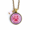 Opalescent Diamond Monogram Pendant