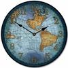 Open Sea Blue World Map Kids Clock