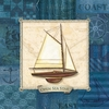 Open Sea Star Ship Canvas Wall Art
