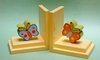 Orange and Blue Butterfly Bookends with Yellow Base