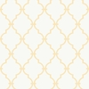Orange and White Modern Trellis Wallpaper