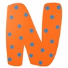 Orange & Blue Wall Letter - N