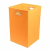 Orange Canvas Laundry Bin