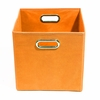 Orange Canvas Storage Bin