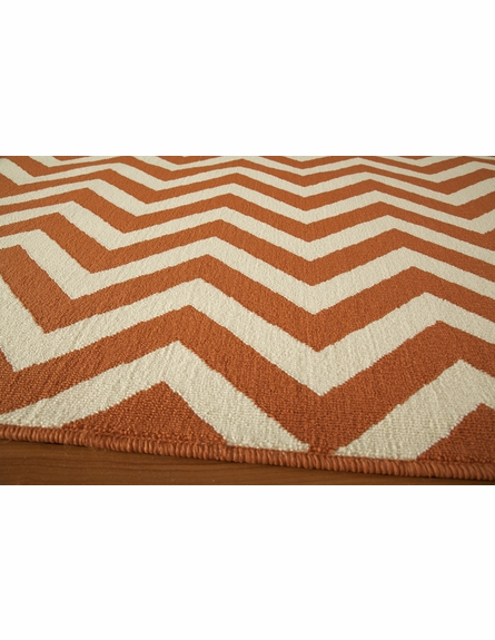 Orange Chevron Baja Rug