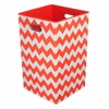 Orange Chevron Canvas Laundry Bin