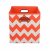 Orange Chevron Canvas Storage Bin