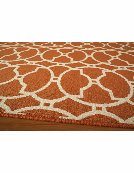 Orange Circles Baja Rug