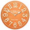 Orange Classic Kids Wall Clock