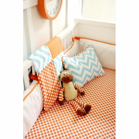 Orange Crush Crib Bedding Set