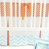 Orange Crush Crib Skirt