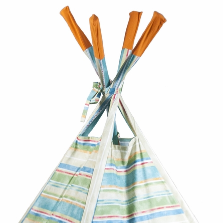Orange Crush Stripe Teepee