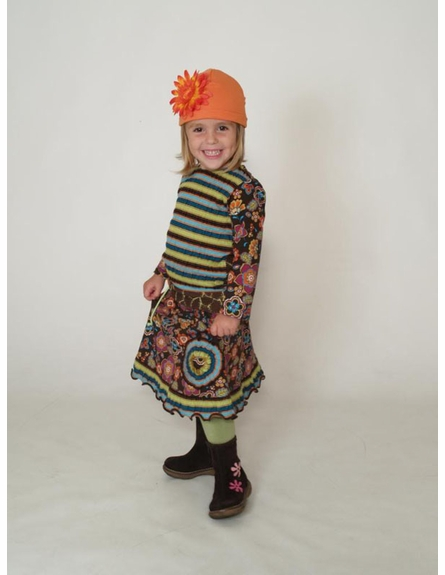 Orange Daisy Cotton Hat