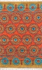 Orange Floral Medallion Cotton Rug