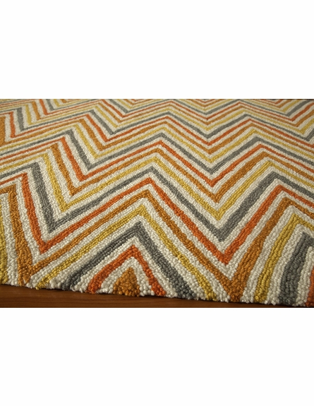Orange Geo Chevron Rug