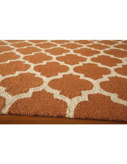 Orange Geo Lattice Rug