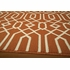 Orange Geometric Baja Rug