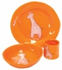 Orange Giraffe Character Personalized Ceramic Dish Collection