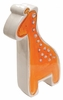 Orange Giraffe on White Coin Bank