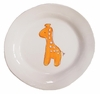 Orange Giraffe on White Personalized Ceramic Dish Collection