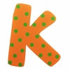 Orange & Green Dot Wall Letter - K