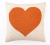 Orange Heart Hook Pillow