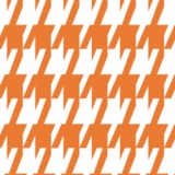 Orange Houndstooth