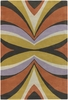 Orange Kaleidoscope Bense Rug