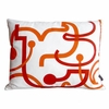 Orange Letters Pillow